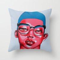 austin Throw Pillows featuring AUSTIN by Zelda Bomba