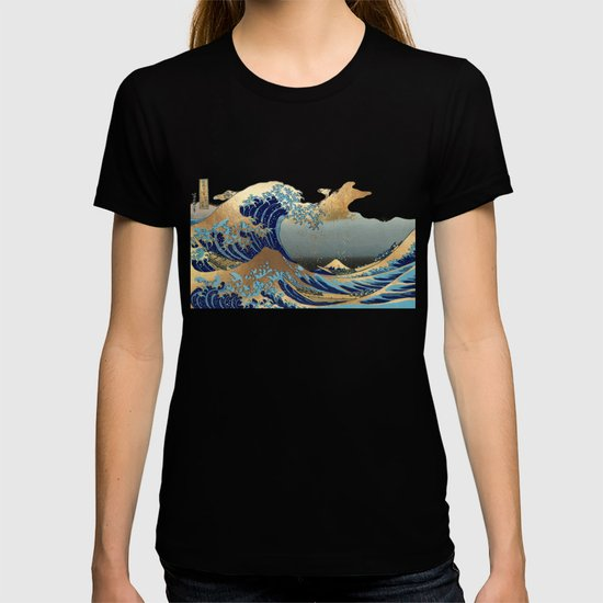 The Great Waves by Hokusai by pixdezines