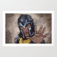 magneto Art Prints featuring Magneto. by Emiliano Morciano (Ateyo)