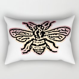 Save The Bees, Linocut - Sales Donated To NAPPC Rectangular Pillow