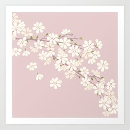 Pink Bloom (Cherry blossom) Art Print