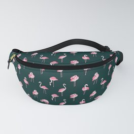 Pink Flamingo Pattern, Cute Animals Fanny Pack
