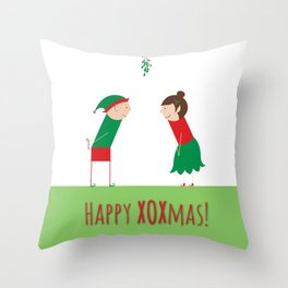 Happy XOXmas Throw Pillow