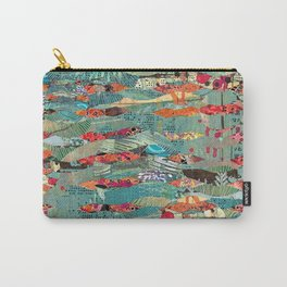 Goodbye Wave Abstract Art Collage Carry-All Pouch
