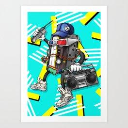 I Am The 80s Retro Design Art Print