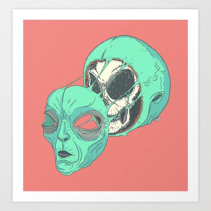 Space-Face Art Print