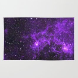 Ultraviolet Space Nebula Rug