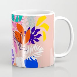 Keep Growing - Tropical plant on peach Coffee Mug