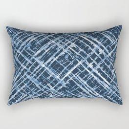 Criss Cross Watercolor Stripes Rectangular Pillow