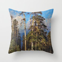 'The Word for World is Forest' by Ivan Shishkin Throw Pillow