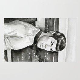 Spock Leonard Nimoy Portrait Sci-fi Geek Painting Rug