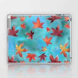 Dead Leaves over Cyan Laptop & iPad Skin