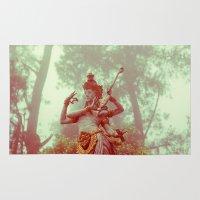 goddess Area & Throw Rugs featuring Goddess by Farkas B. Szabina