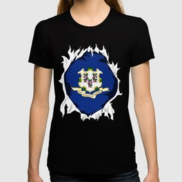 Connecticut Jersey | Gift for Connecticuter, CT Native Home State Flag T-shirt