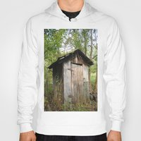 outdoor Hoodies featuring Outdoor toilet by jim snyders photography