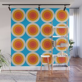 Kauai 16 - Colorful Classic Abstract Minimal Retro 70s Style Graphic Design Wall Mural