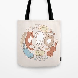 Seven cute cats. Tote Bag