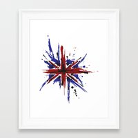 union jack Framed Art Prints featuring Union Jack by Chris's Creations