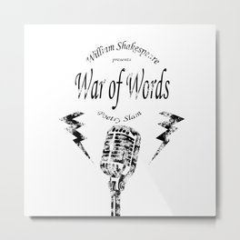 War of Words Metal Print