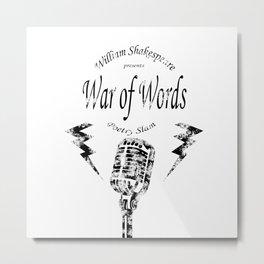 War of Words Metal Print