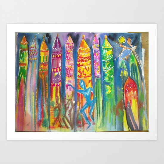 Goa, Anjuna Night Market  Art Print