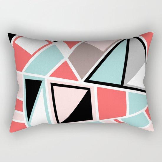 Abstract #534 Facets Rectangular Pillow