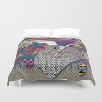 internet Duvet Covers featuring drippy internet by oops