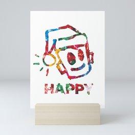 HAPPY CHRISTMAS Mini Art Print