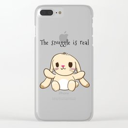The Snuggle is Real Bunny Clear iPhone Case