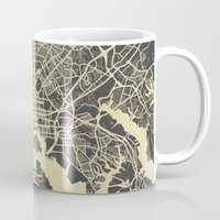 baltimore Mugs featuring Baltimore map by Map Map Maps