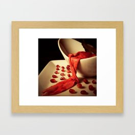 Intestine & Pomegranate Seeds Framed Art Print