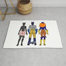 Superhero Butts Love 7 - Cat Bats Rug