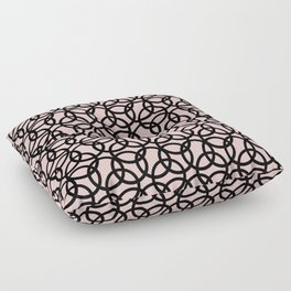 Olympica Black on Blush Floor Pillow