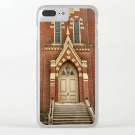 First Lutheran Church in Moline, Illinois Clear iPhone Case