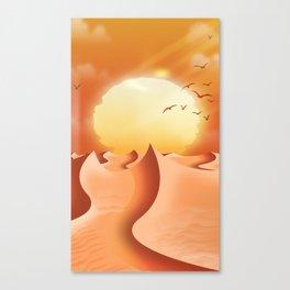 Arid Desert Landscape Canvas Print