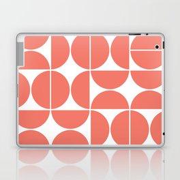 Mid Century Modern Geometric 04 Living Coral Laptop & iPad Skin