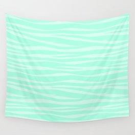 Zebra Print - Sugar Mint Wall Tapestry