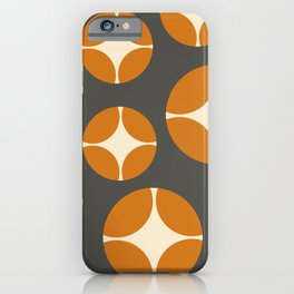 Minimal Abstract Vintage Cream Orange Grey 13 iPhone Case