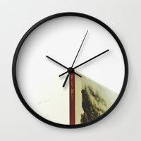 bon iver Wall Clocks featuring Bon Iver by hellomatilda