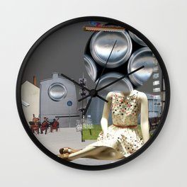 She meets illusion city Wall Clock
