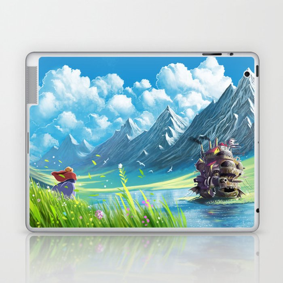 Howls Moving Castle Laptop & iPad Skin