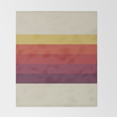 Retro Video Cassette Color Palette Throw Blanket