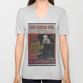 Vintage Bob Dylan Santa Barbara, California Concert Poster Limited Edition Originally 1 of 200 Unisex V-Neck