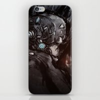 cyberpunk iPhone & iPod Skins featuring Cyberpunk 001  by Thecansone