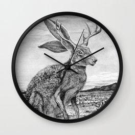 Chisos Mountain Jackalope Wall Clock