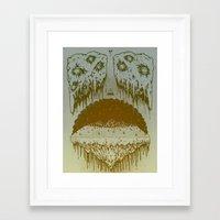 island Framed Art Prints featuring Island by Killer Napkins
