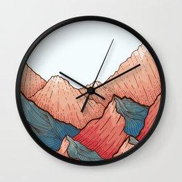 Sea Peaks Wall Clock