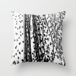 Footprints and traces in the snow - Fine Arts Abstract Photography Throw Pillow