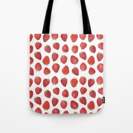 Strawberries watercolor Tote Bag