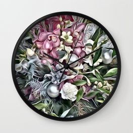 Dreamy Blossoms 2 Wall Clock